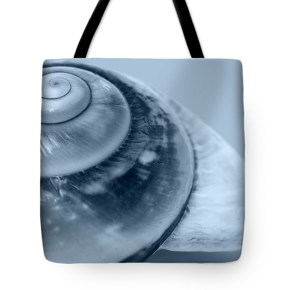 Blue Tote Bag featuring the photograph Blue Shell by Gillian Dernie