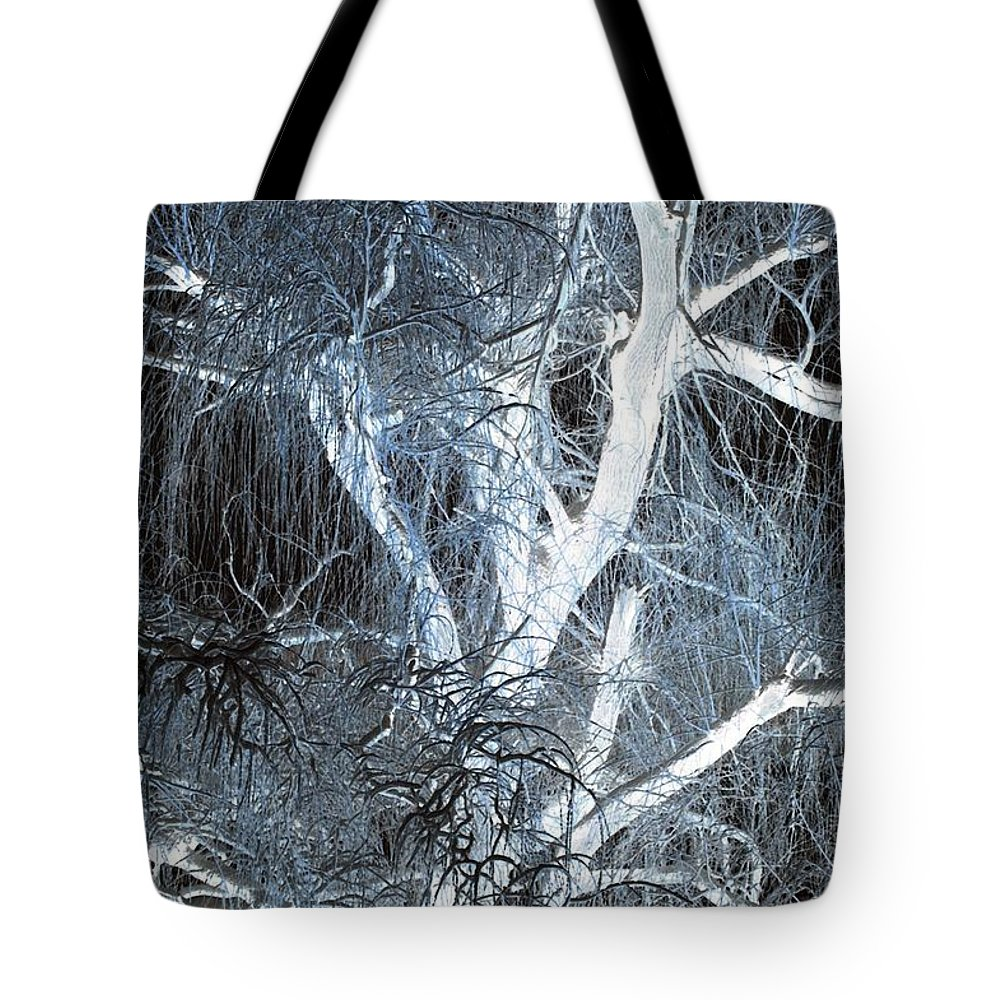 Snow Tote Bag featuring the photograph Blue Snow by Kathleen Struckle