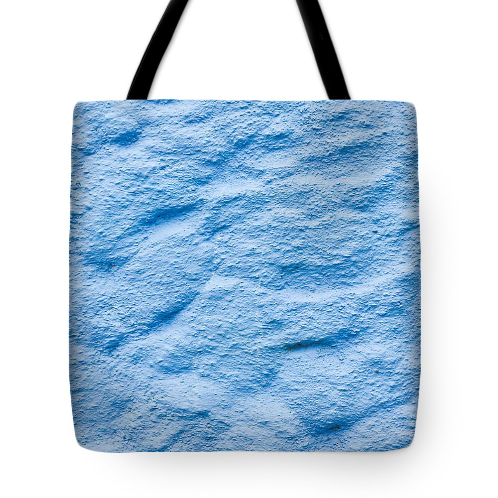 Abstract Tote Bag featuring the photograph Blue Stone Background by Tom Gowanlock