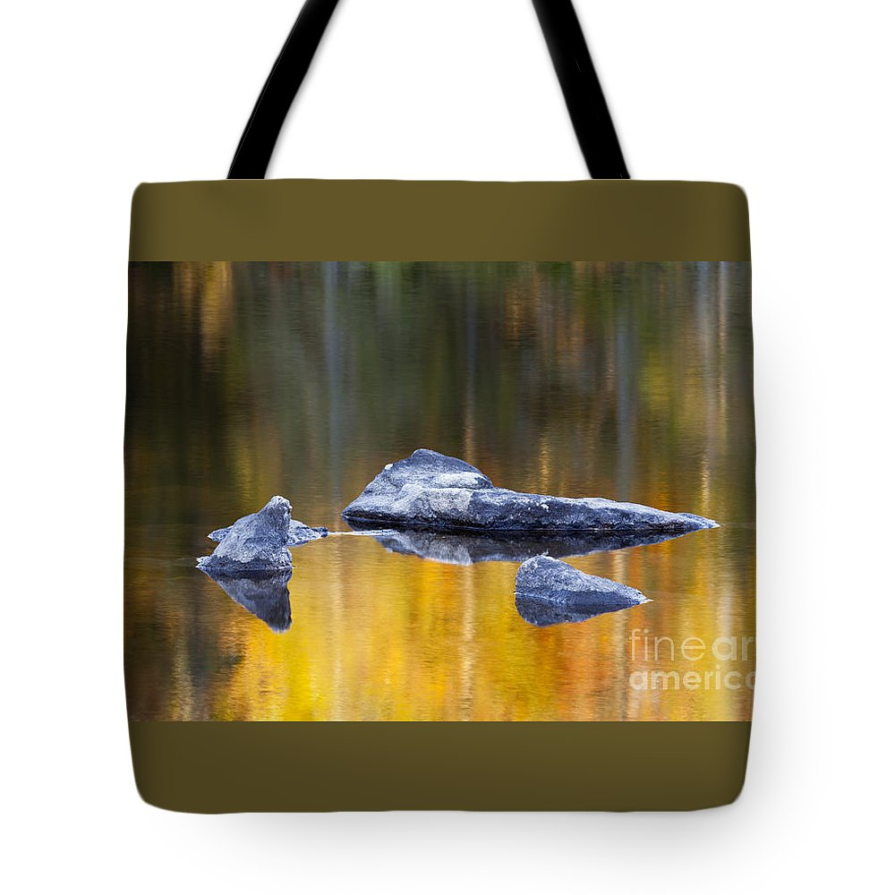 Fall Tote Bag featuring the photograph Blue Stones by Alan L Graham