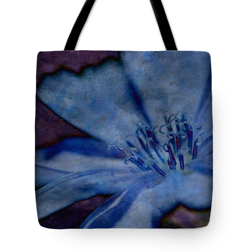 Flower Tote Bag featuring the photograph Blue Too by WB Johnston