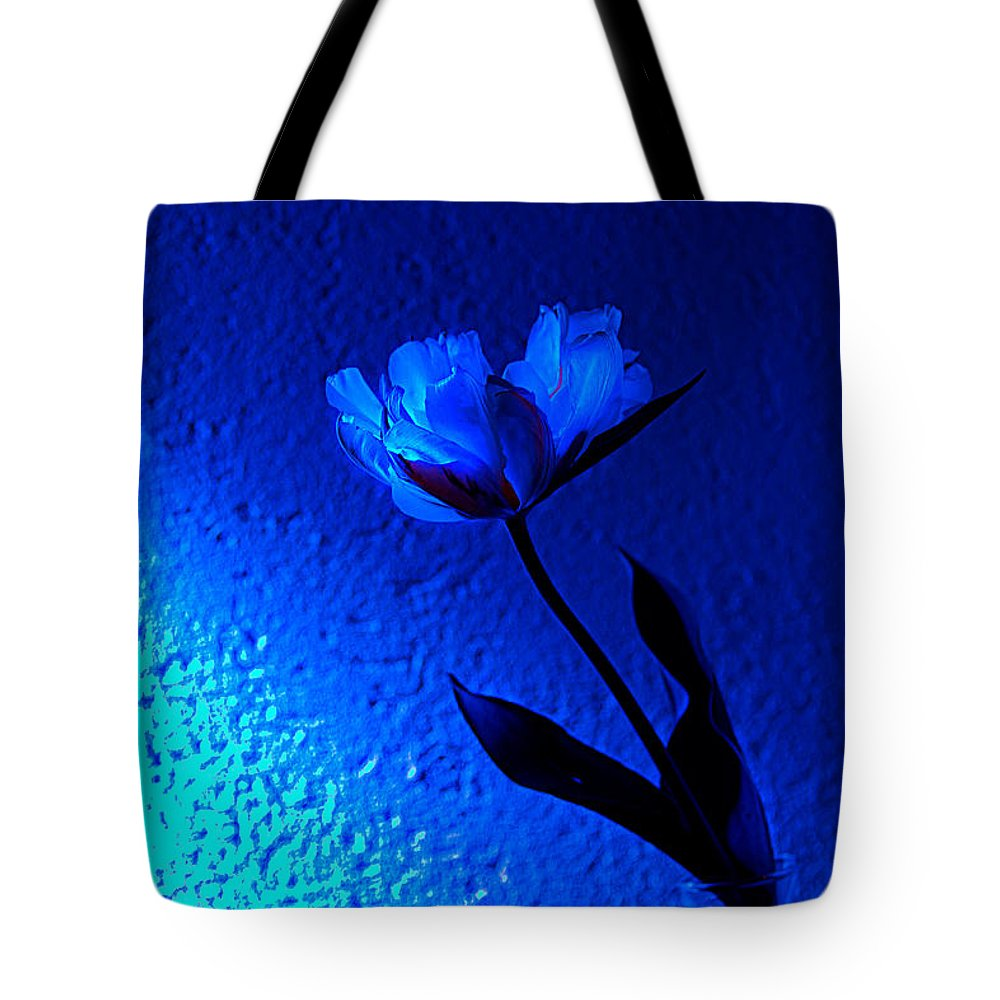 Tulip Tote Bag featuring the photograph Blue Tulip by Christine Sponchia