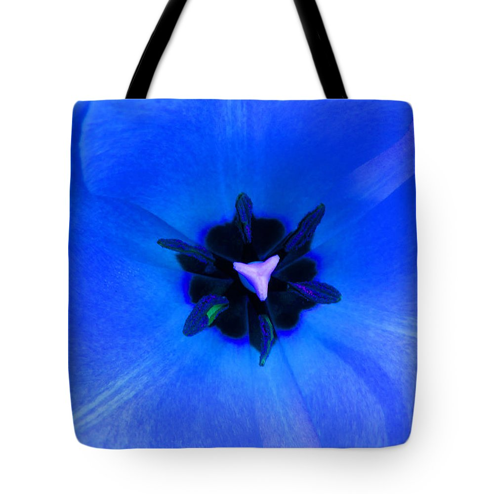 Flower Tote Bag featuring the photograph Blue Tulip by Tina M Wenger