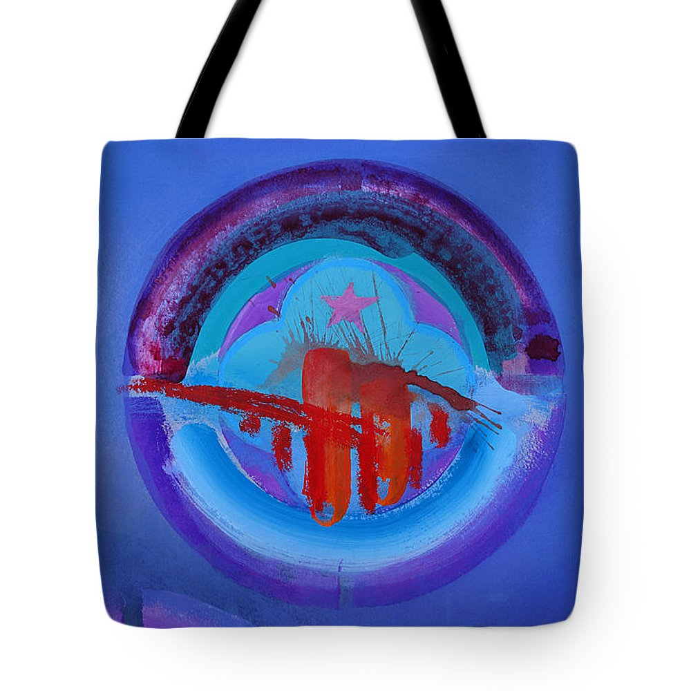 Texas Art Tote Bag featuring the painting Blue Untitled Image by Charles Stuart