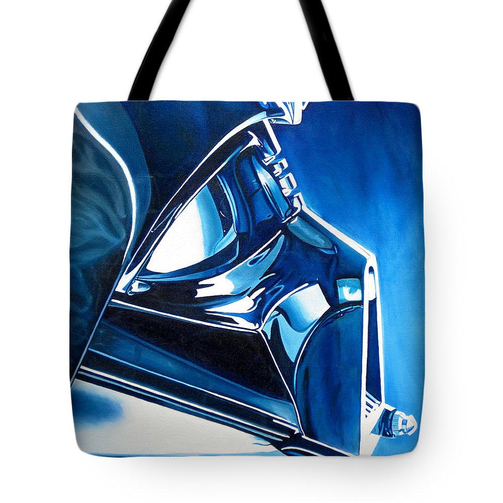 Star Wars Tote Bag featuring the painting Blue Vader by Joshua Morton