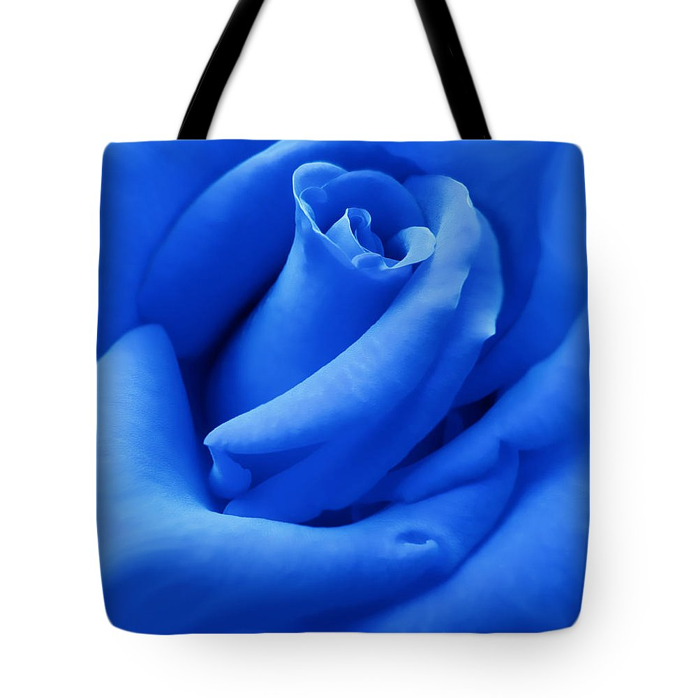 Rose Tote Bag featuring the photograph Blue Velvet Rose Flower by Jennie Marie Schell