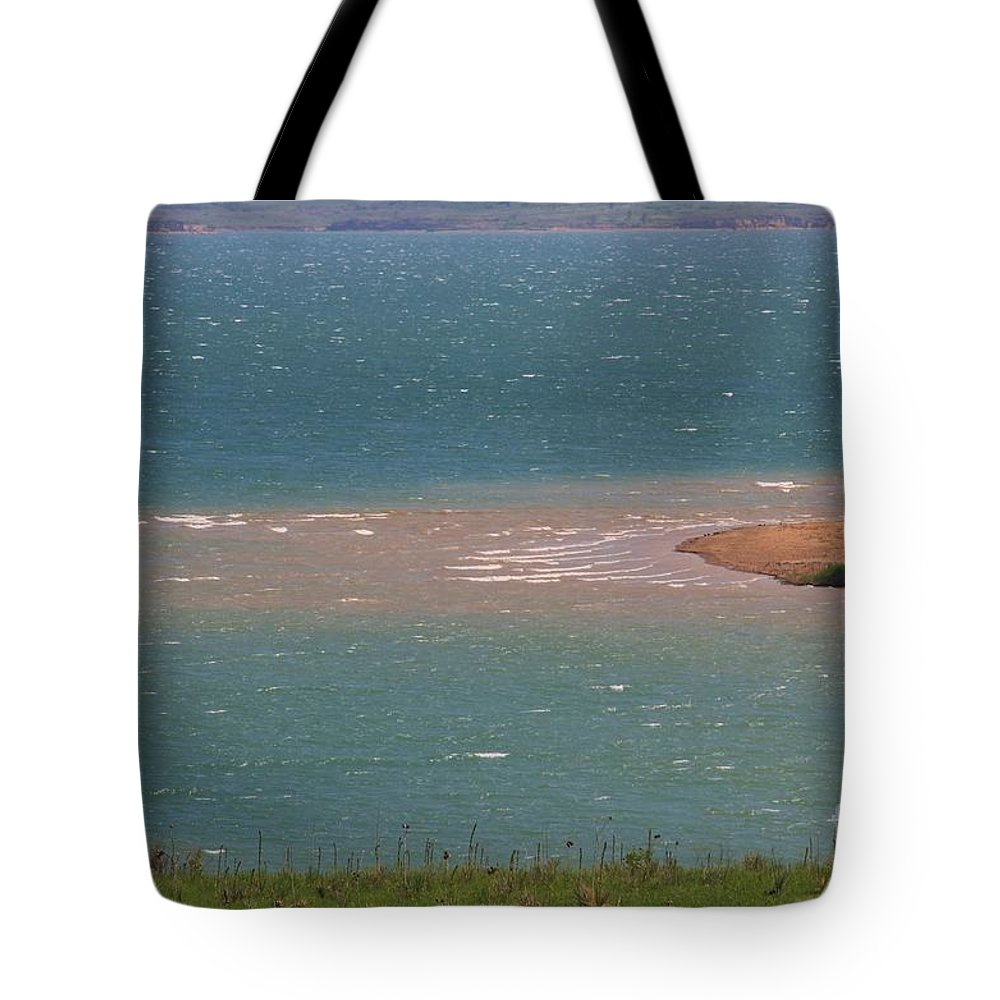 Water Tote Bag featuring the photograph Blue Water Wilson Lake by Robert D Brozek