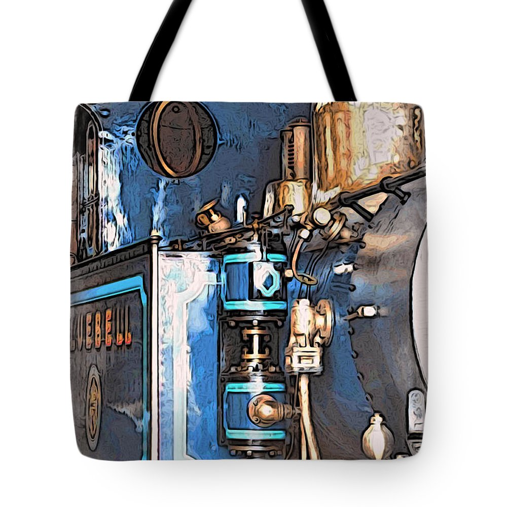 Bluebell Railway Tote Bag featuring the digital art Bluebell by Paul Stevens