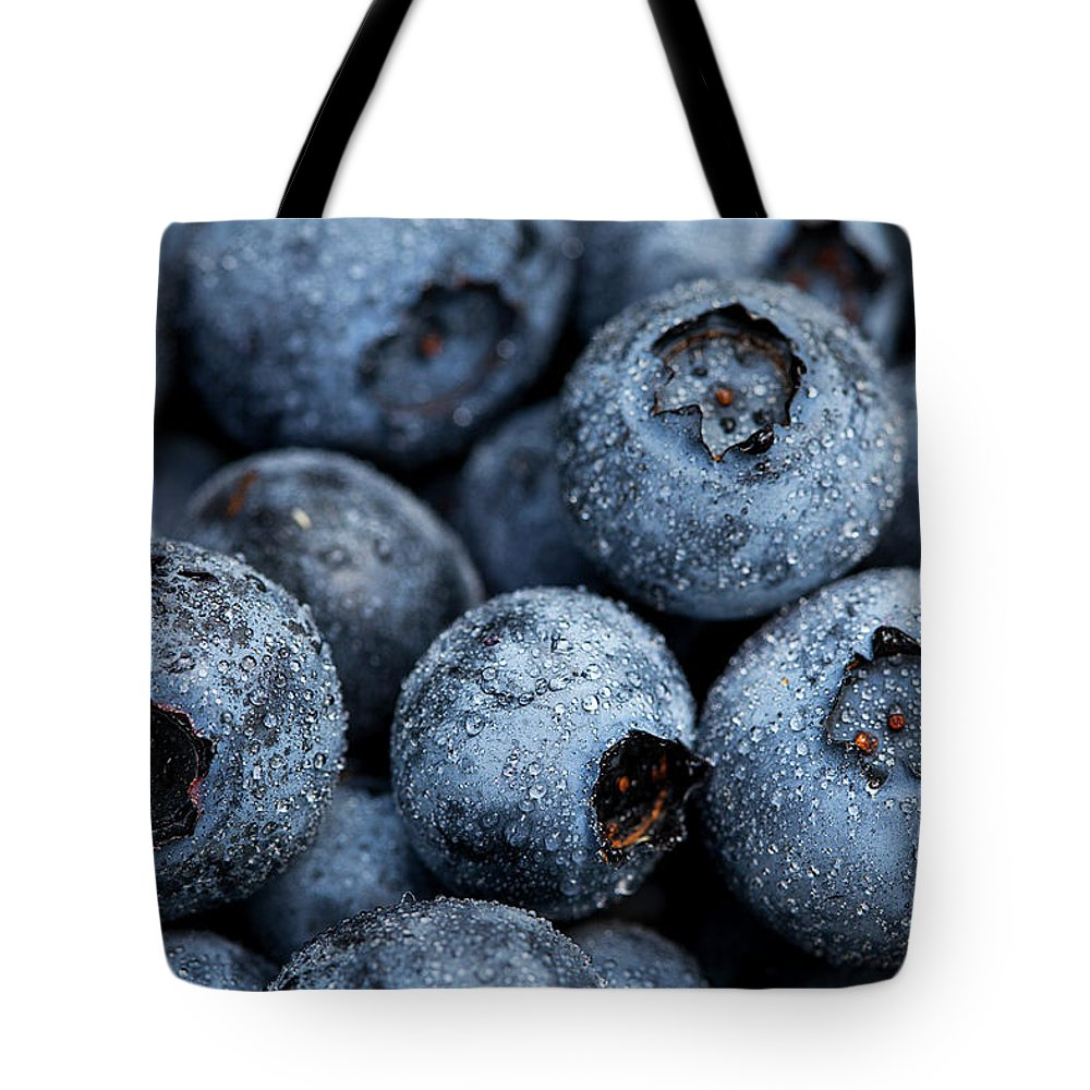 Surrey Tote Bag featuring the photograph Blueberries Fruits by Kevin Van Der Leek Photography