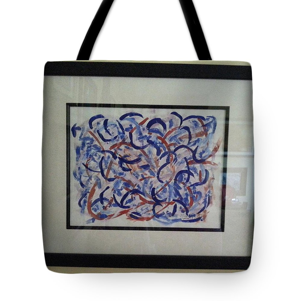 Framed Picture Tote Bag featuring the painting Blueberry Patch by Myrtle Joy