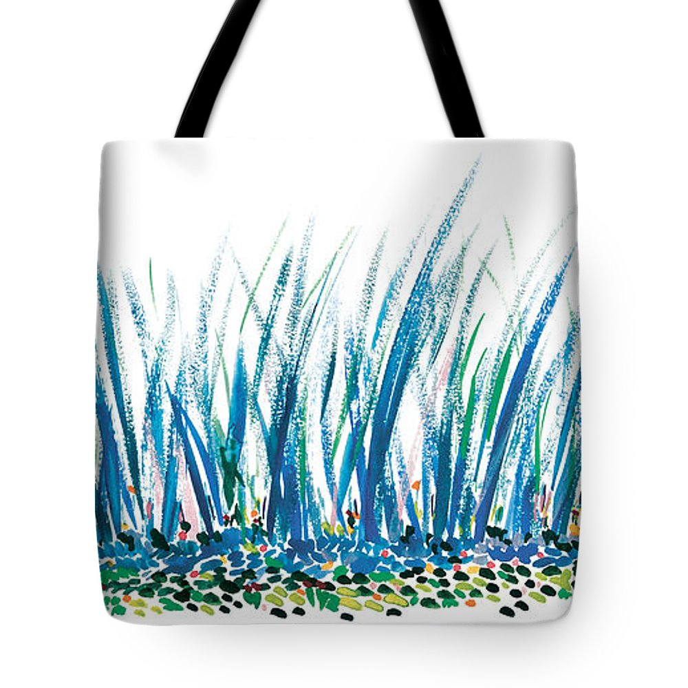 Contemporary Tote Bag featuring the painting Bluegrass by Bjorn Sjogren