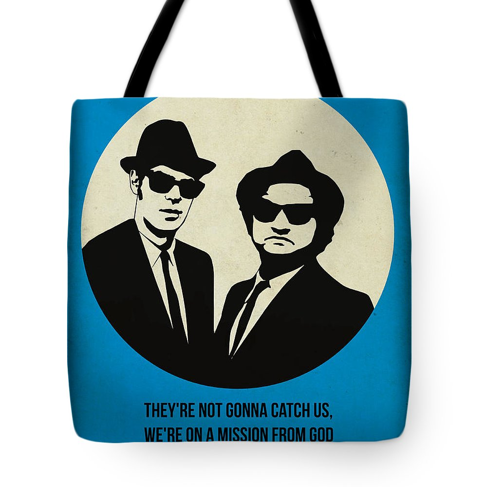 Tote Bag featuring the painting Blues Brothers Poster by Naxart Studio
