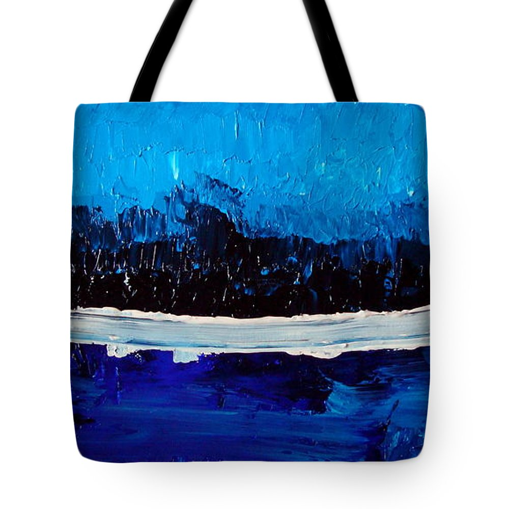 Blue Tote Bag featuring the painting Blues by Holly Picano