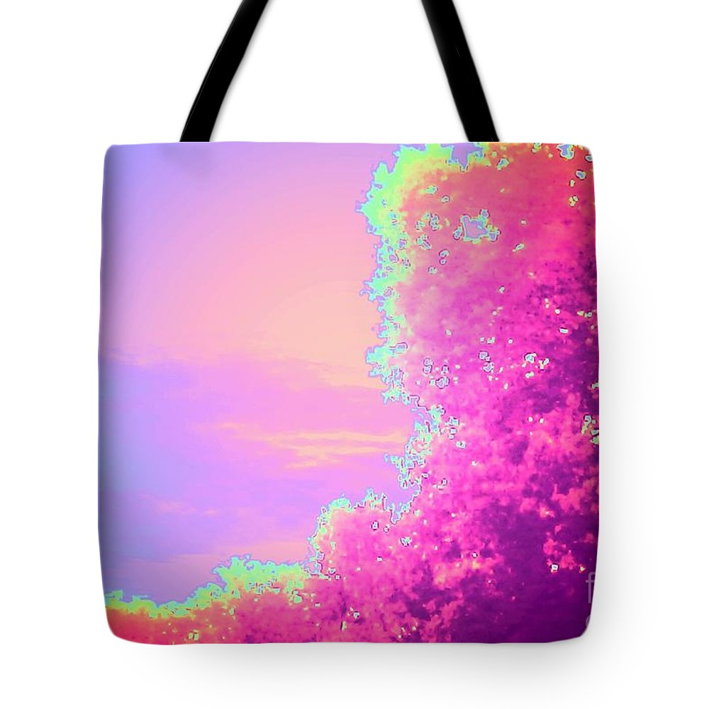 Trees Tote Bag featuring the photograph Blush Frondescence by Heather Taylor