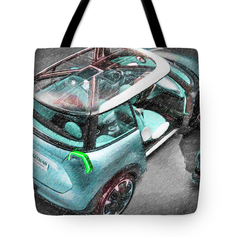 New Tote Bag featuring the painting Bmw 23 by Jeelan Clark