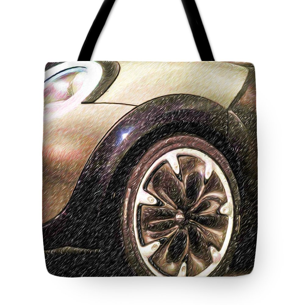 New Tote Bag featuring the painting Bmw 25 by Jeelan Clark