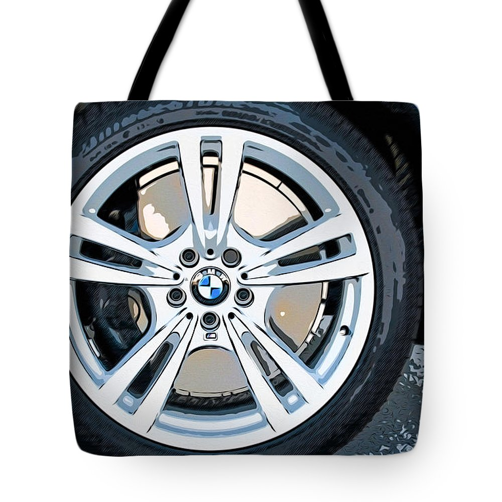 New Tote Bag featuring the painting Bmw 29 by Jeelan Clark