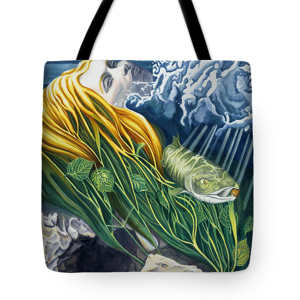 Boann Tote Bag featuring the painting Boann Transformation of a Goddess by Antony Galbraith