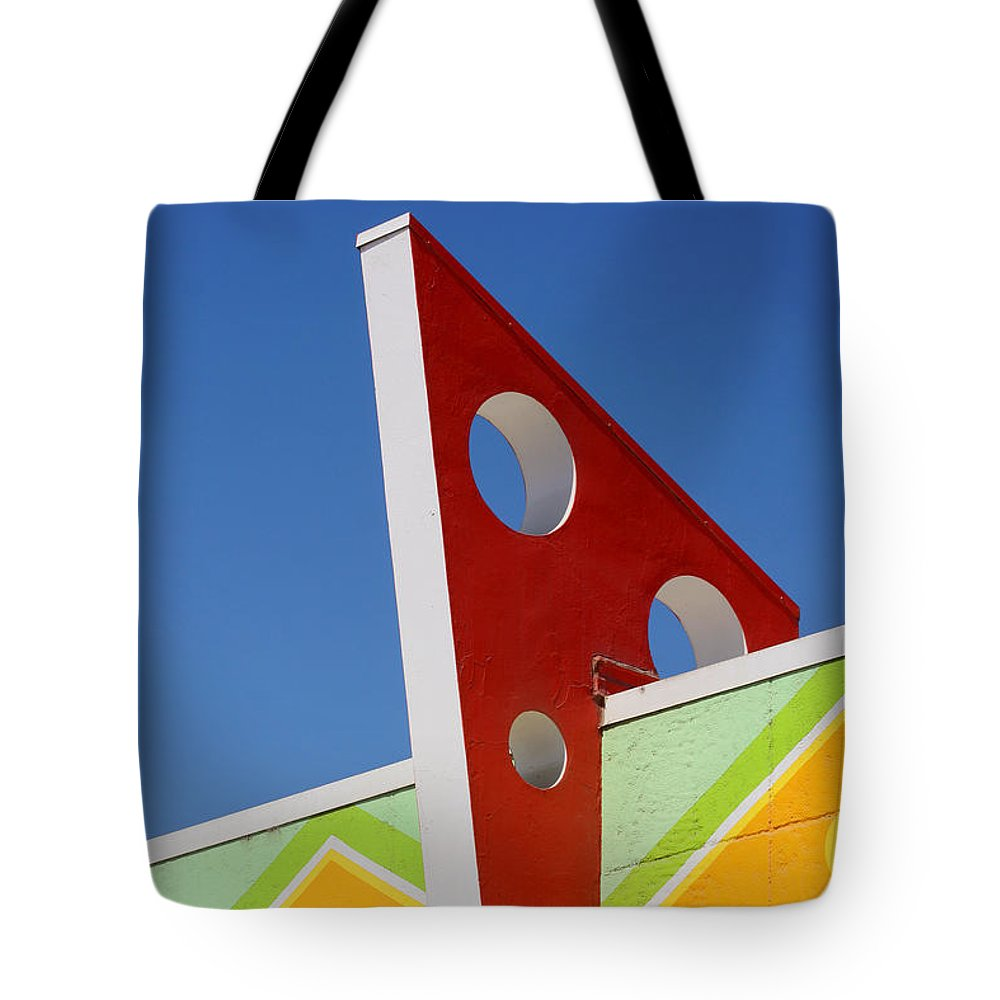 Santa Cruz Tote Bag featuring the photograph Boardwalk Architecture by Art Block Collections