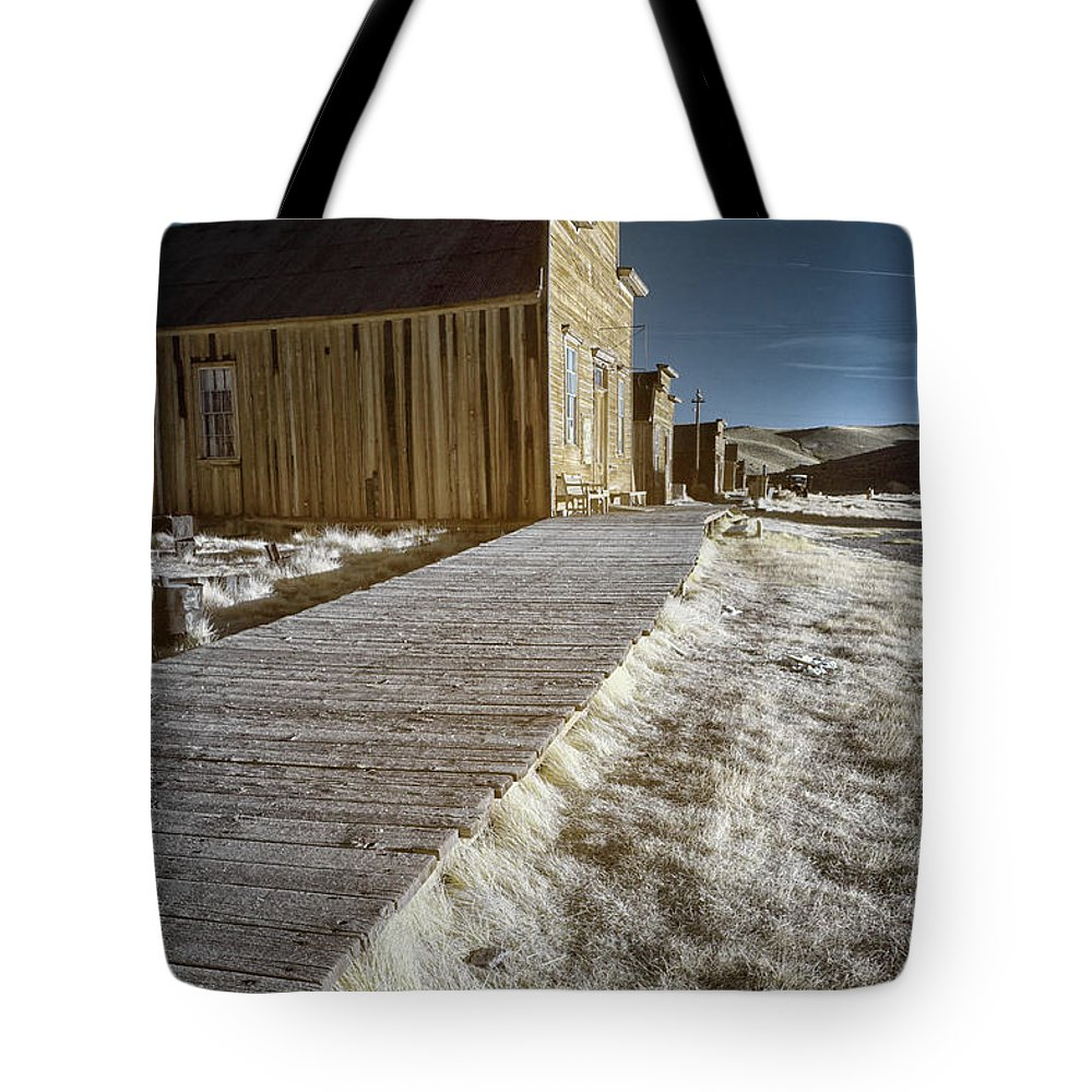 Abandoned Tote Bag featuring the photograph Frost On The Boardwalk by Alan Kepler