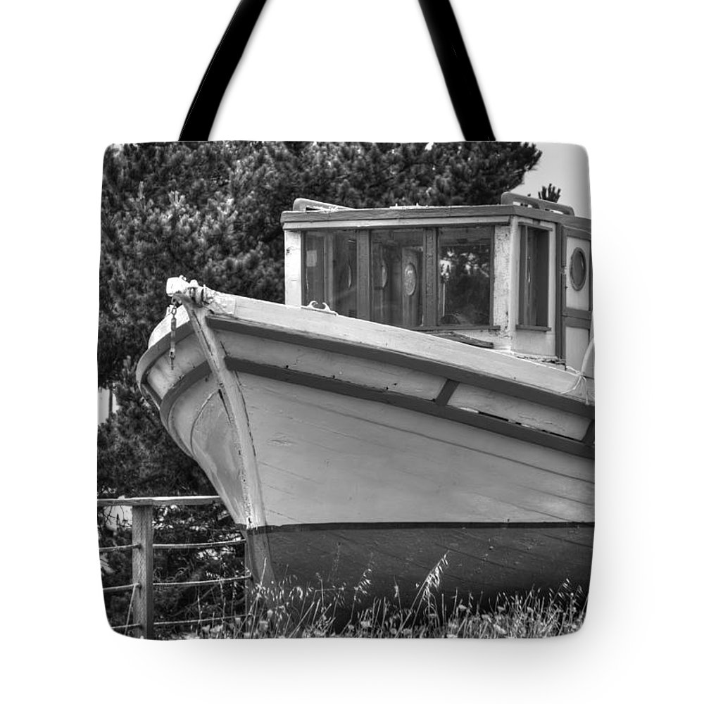 Boat Tote Bag featuring the photograph Boat Out Of The Water by Diego Re