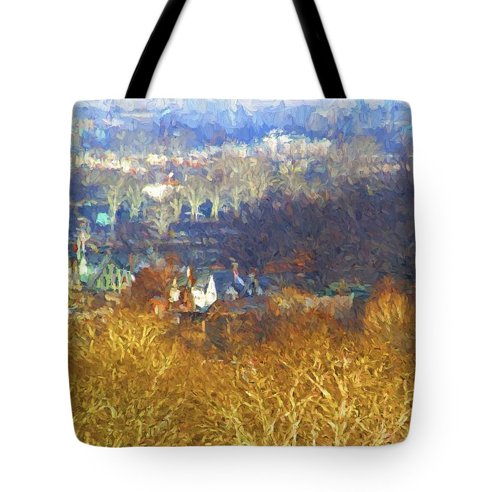 Boathouse Row Tote Bag featuring the photograph Boathouse Row Impasto by Alice Gipson