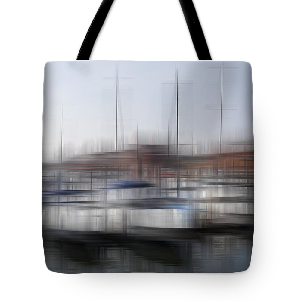 Blurred Tote Bag featuring the photograph Boats In The Marina by Kevin Round