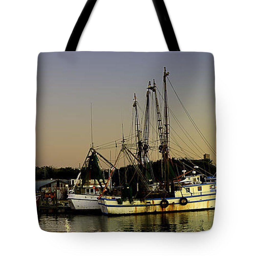 Boats Tote Bag featuring the photograph Boats Pano by Bruce Bain