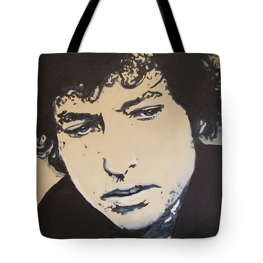 Bob Dylan Tote Bag featuring the drawing Bob Dylan - It's Alright Ma by Eric Dee