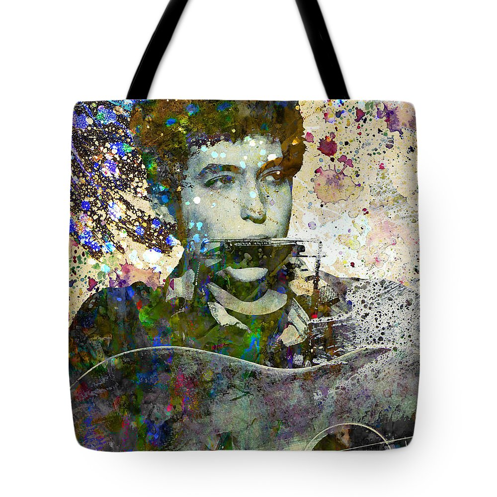 60s Tote Bag featuring the painting Bob Dylan Original Painting Print by Ryan Rock Artist