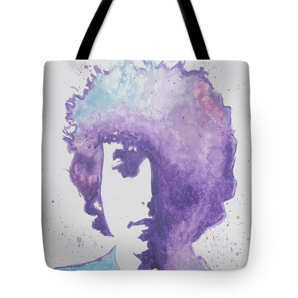 Bob Dylan Tote Bag featuring the painting Bob Dylan by Venus