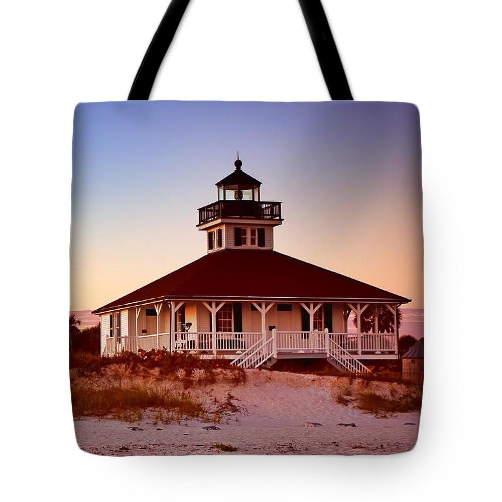 Boca Grande Tote Bag featuring the photograph Boca Grande Lighthouse - Florida by Nikolyn McDonald