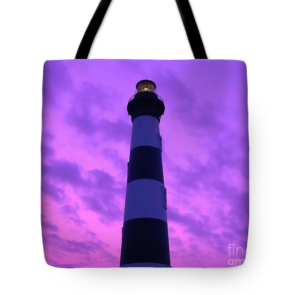 Bodie Lighthouse Tote Bag featuring the photograph Bodie Beacon by Al Powell Photography USA