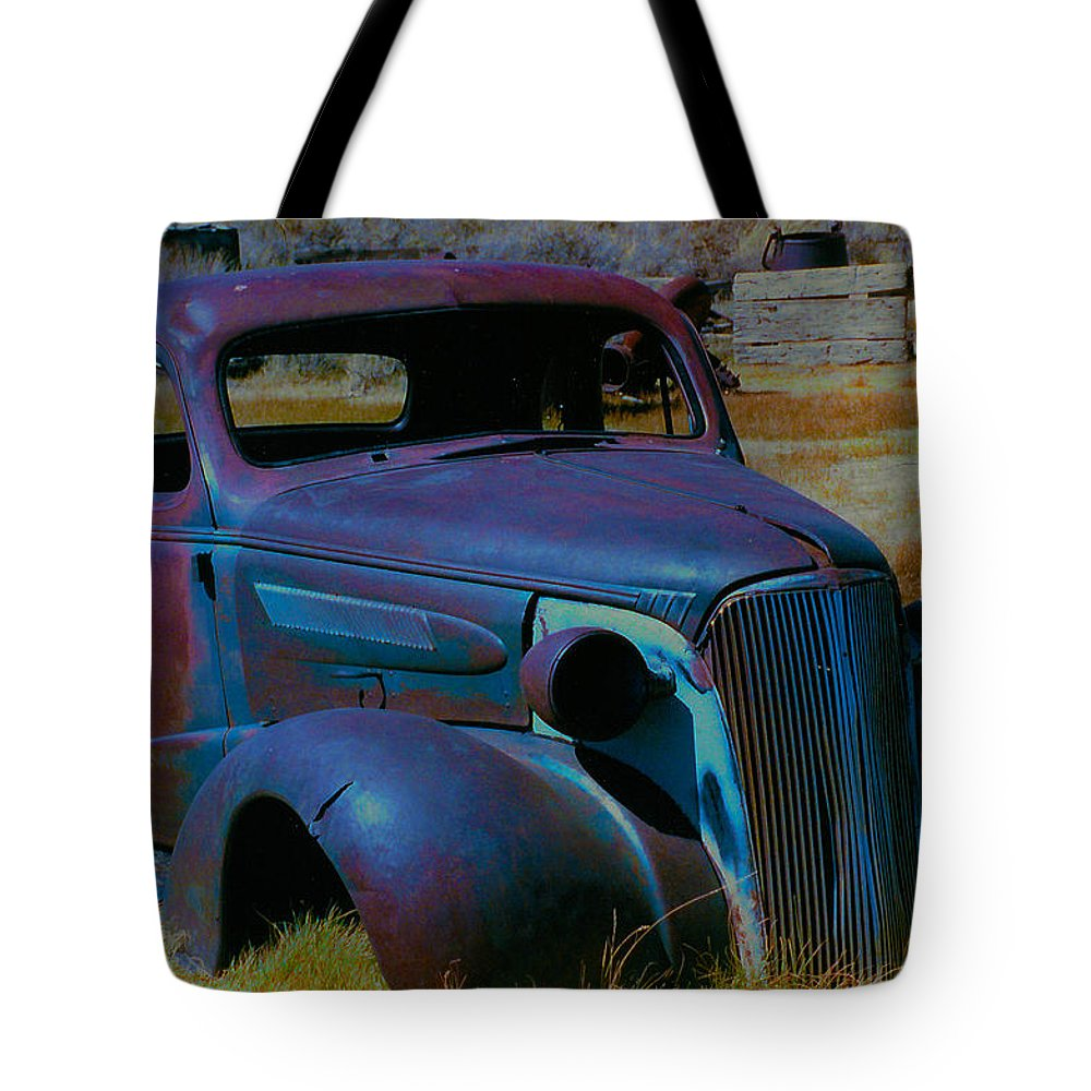 Barbara Snyder Tote Bag featuring the digital art Bodie Plymouth by Barbara Snyder