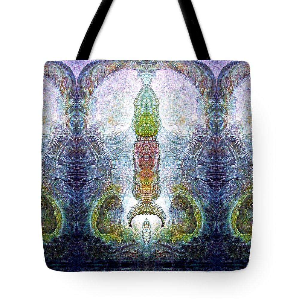 \bogomil Variations\ \otto Rapp\ \ Michael F Wolik\ Tote Bag featuring the digital art Bogomil Variation 13 by Otto Rapp