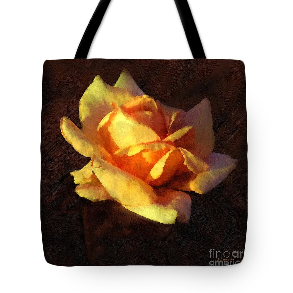 Rose Tote Bag featuring the painting Bold Glow by RC DeWinter