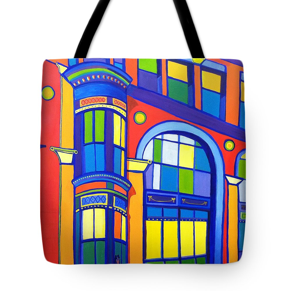 Cat Tote Bag featuring the painting Bon Marche Cat by Debra Bretton Robinson