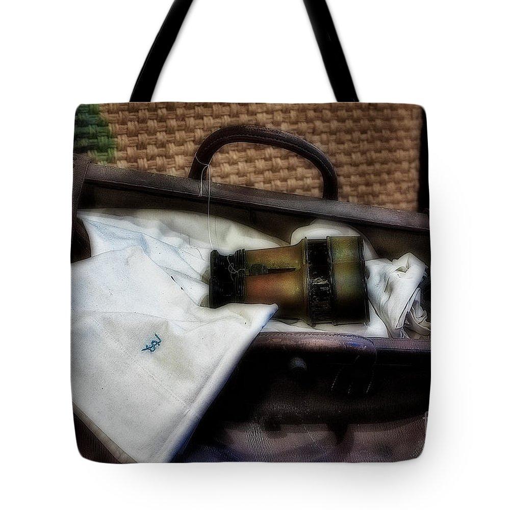 Binocular Tote Bag featuring the photograph Bon Voyage by Susan Candelario