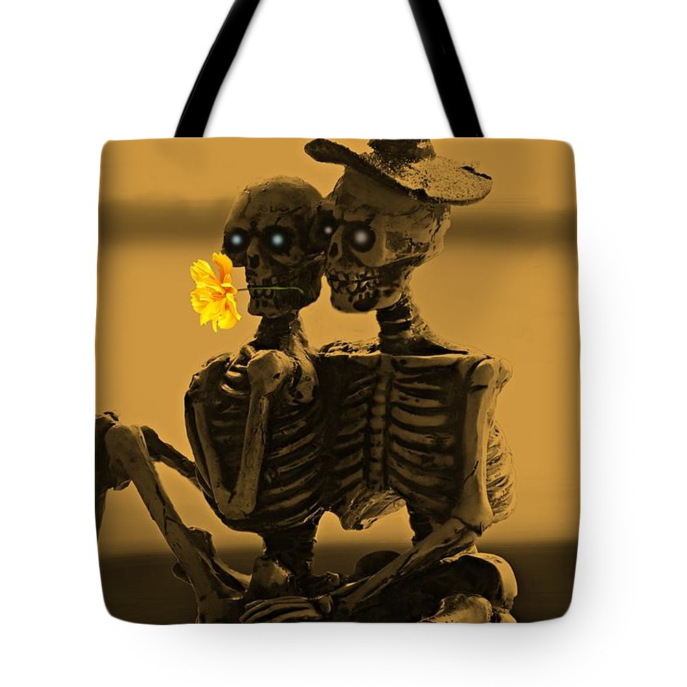 Lovers Tote Bag featuring the photograph Bones In Love by David Dehner