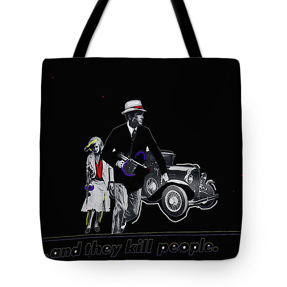 Bonnie And Clyde Poster Death Valley California Color Added Tote Bag featuring the photograph Bonnie And Clyde Poster 1967 Death Valley California 1968-2009 by David Lee Guss