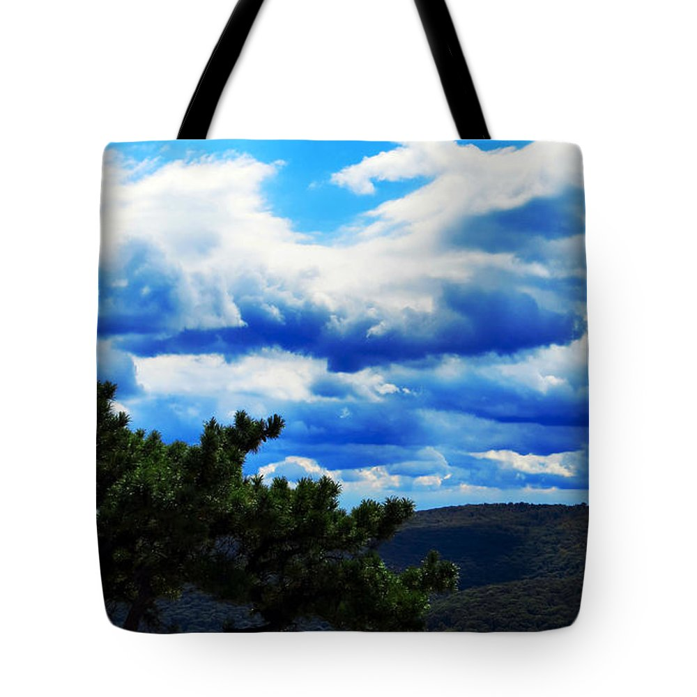 Sky Tote Bag featuring the photograph Bonsai by Art Dingo