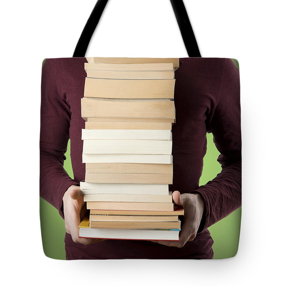 Book Tote Bag featuring the photograph Books by Chevy Fleet