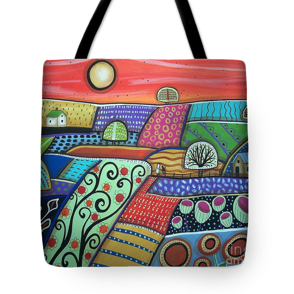 Folk Art Tote Bag featuring the painting Boondocks by Karla Gerard