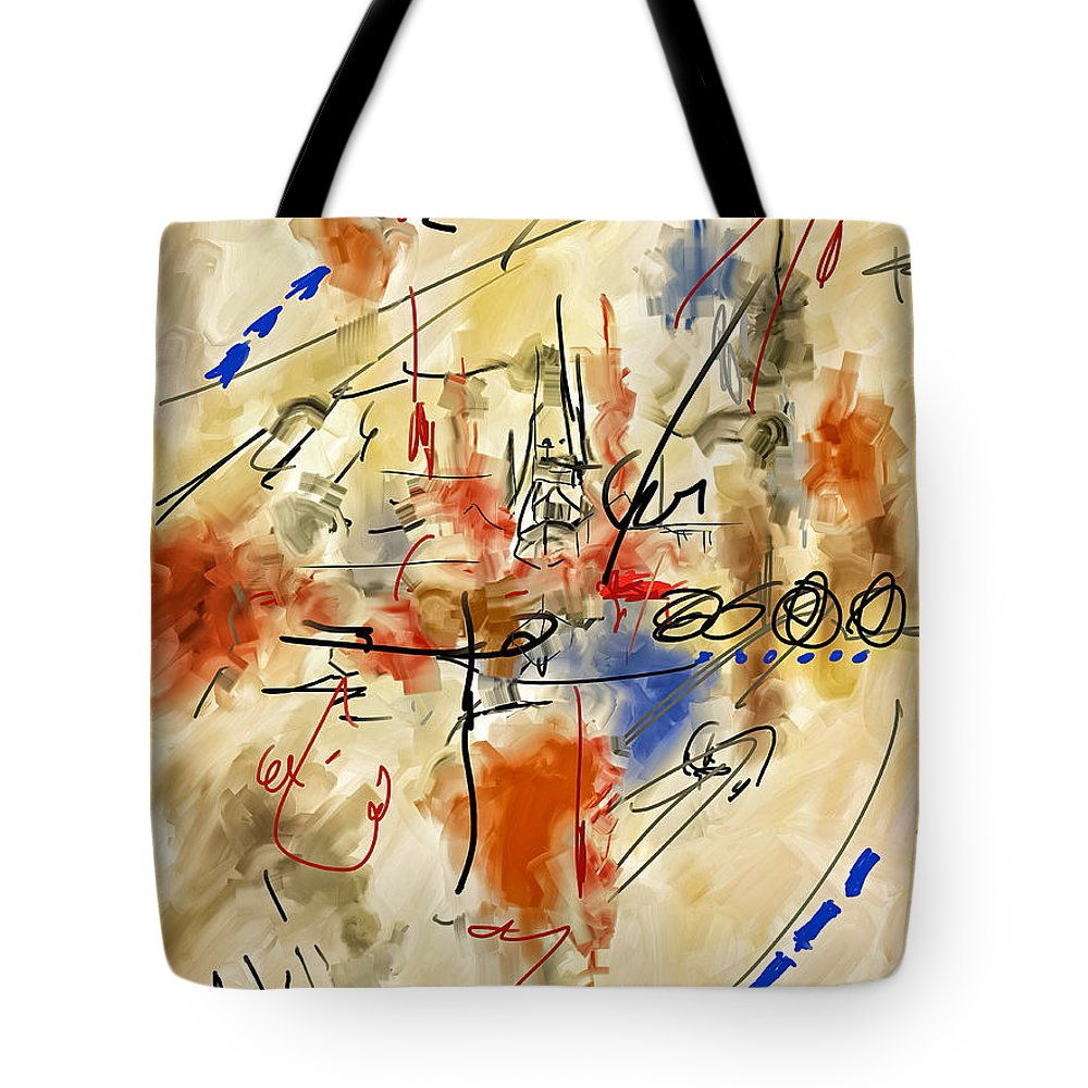 Abstract Tote Bag featuring the painting Boondocks by Michael Pickett