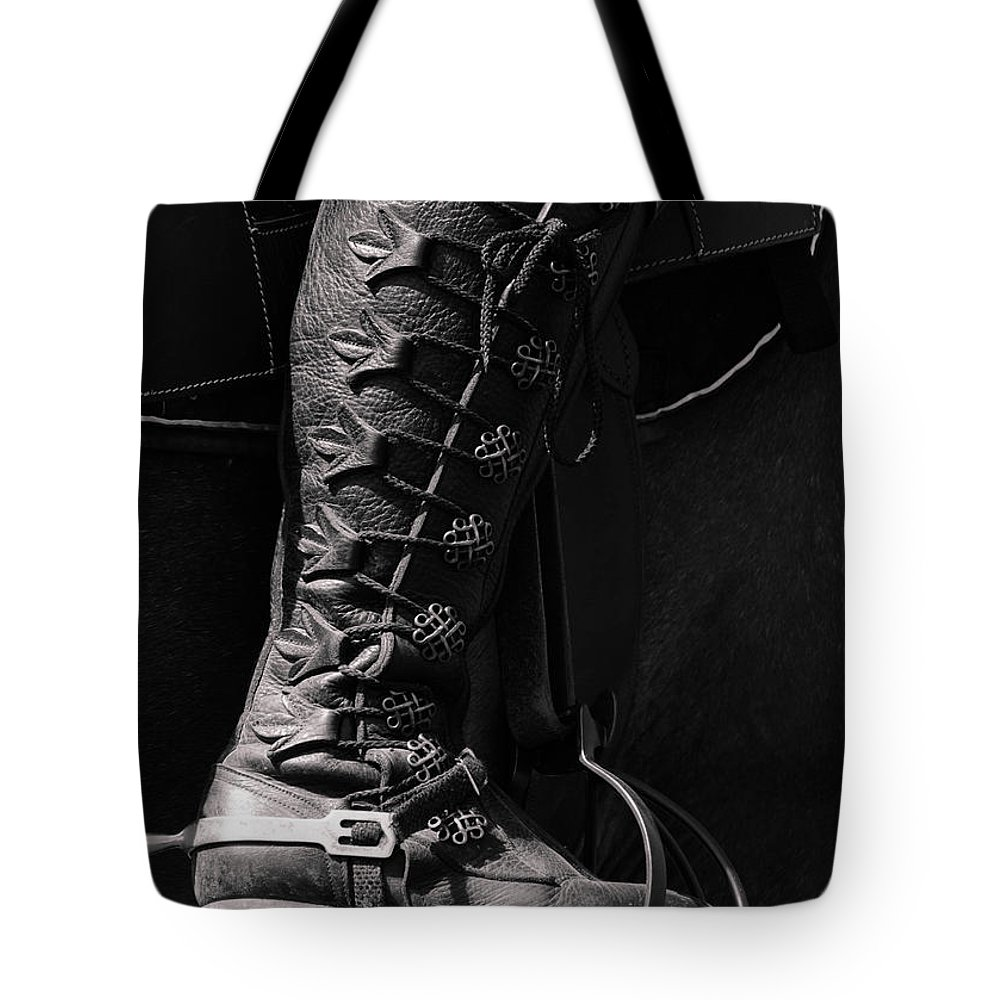Boot Tote Bag featuring the photograph Medieval Faire Boot Detail by Vivian Christopher