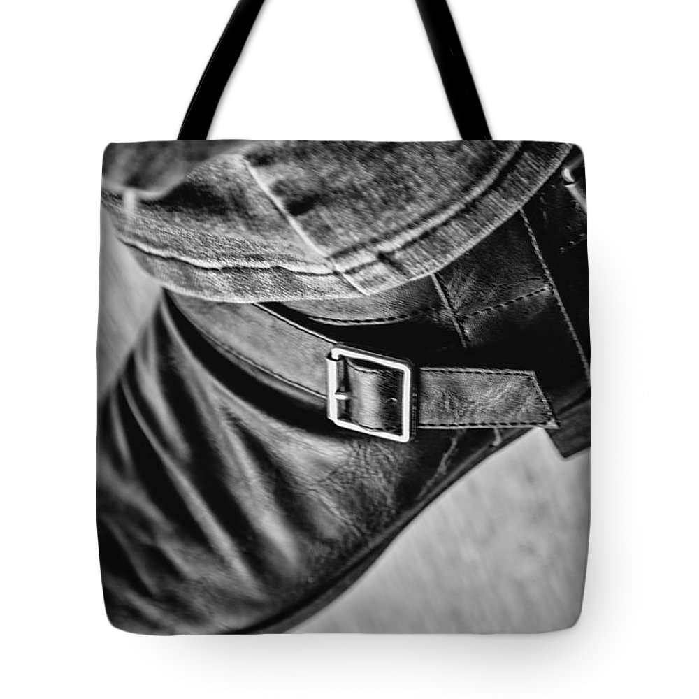 Boots Tote Bag featuring the photograph Bootin by Karol Livote