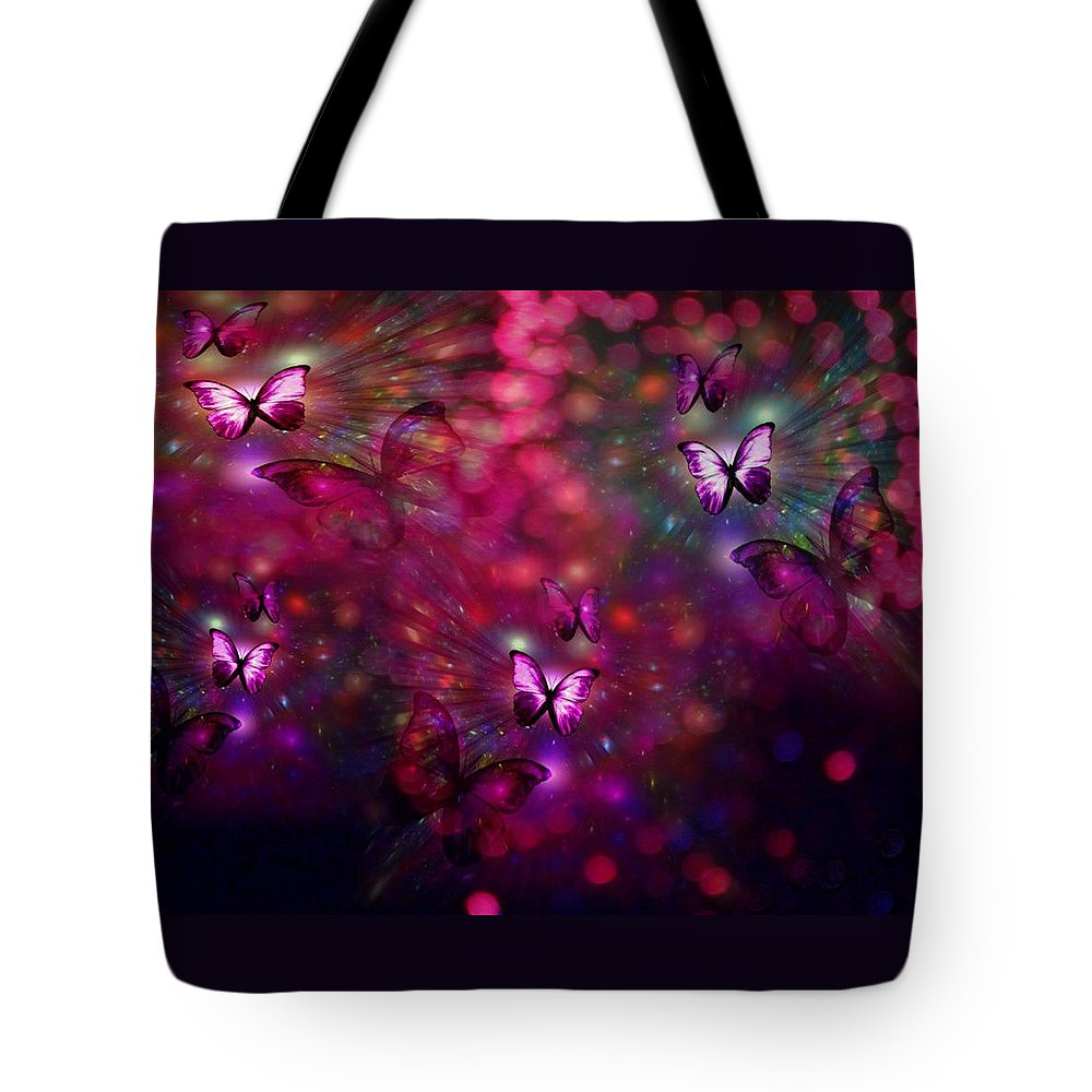 Butterflies Tote Bag featuring the digital art Born Again by Jewell McChesney