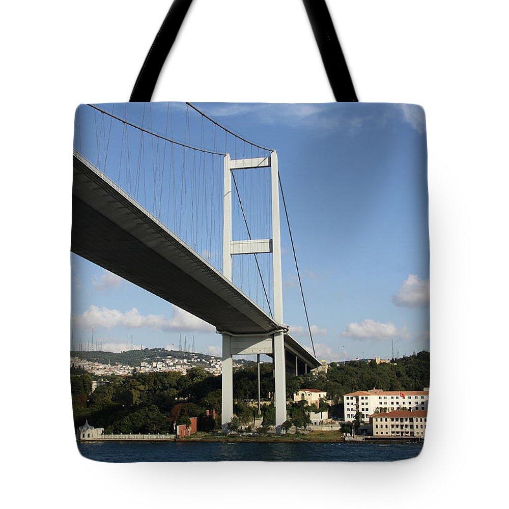 Bosphorus Bridge Tote Bag featuring the photograph Bosphorus Bridge Istanbul by Christiane Schulze Art And Photography