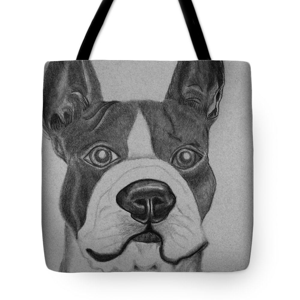 Bossy Alert Tote Bag featuring the drawing Bossy Alert by Maria Urso