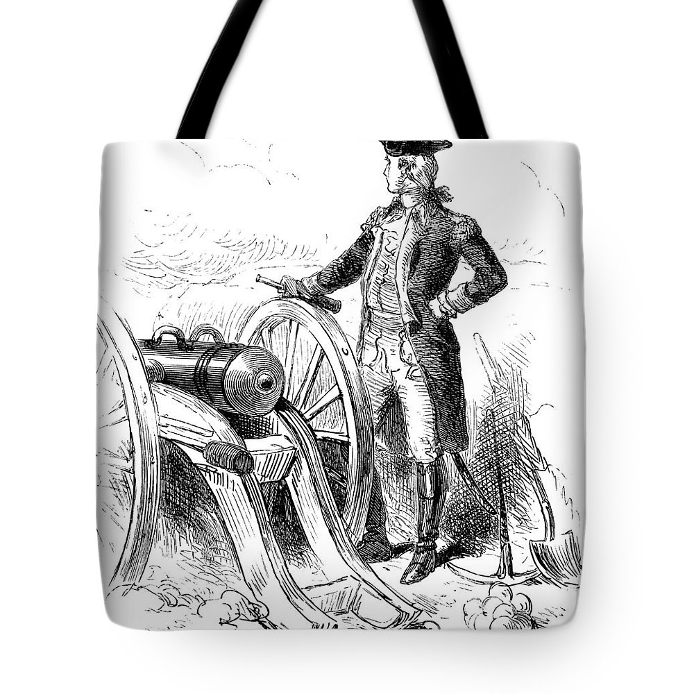 1776 Tote Bag featuring the photograph Boston: British Evacuation by Granger